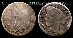 20 centimes 1851A Cérès Oreille Basse II République Argent/Silver