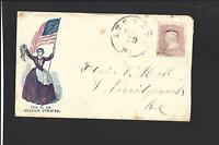 AUGUSTA, MAINE COVER. CIVIL WAR UNION PATRIOTIC DESIGN.