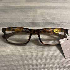 NWT Tortoise Plastic Framed Reading Glasses ~ +2.25 Strength ~ Lightweight Chic