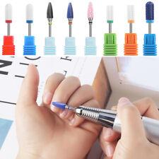 Nail Ceramics Grinding Head Nail Drill Bits Cuticle Remover Tool Nail Polishing