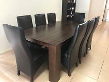 Nick Scali Tasmanian Oak Dining Table Chairs
