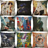 "18"" Cotton Linen Printing dragon pillow case Home Decor Cushion Cover"