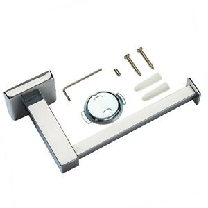 Toilet Roll Holder Square. Wall Mounted Chrome Loo Roll Holder With Fittings