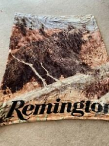 "60"" x 48"" Remington Polyester Blanket with Bear Design Print"