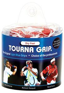 30 TOURNA Over Grip Tennis Squash Badminton Racquet Overgrip 99x2.5cm Light Blue