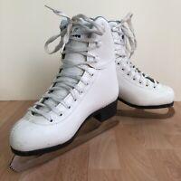 """Soft Skate by Jackson Figure Skates Size Girls 2 Ice Beginner White 8 1/3"""" Blade"""
