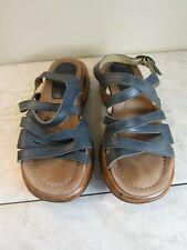 Dansko Stevie Blue Antiqued Sole Leather Clog Sandal Shoes Women's EU 36