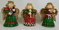 Vintage Christmas Carolers Figurines Angels Cedar Creek Collection Lot of 3