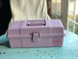 Vintage Purple 80's Caboodles Makeup Carrying Case Organizer Storage Crafts