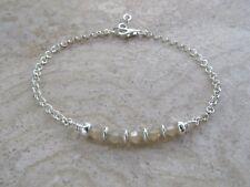Sterling Silver Belcher Chain Bracelet made with Swarovski Crystals Sand Opal