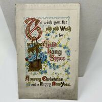 Vintage Postcard Merry Christmas Happy New Year Greensburg Pennsylvania