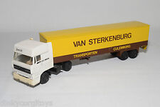 LION CAR DAF 3300 SPACE CAB TRUCK WITH TRAILER STERKENBURG NEAR MINT CONDITION