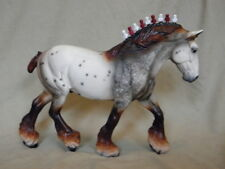 Breyer Shire / Draft (Markus) CM/Custom Mulberry Appaloosa Horse Statue OOAK