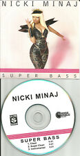 NICKI MINAJ Super Bass 3TRX 2 CLEAN & INSTRUMENTAL PROMO DJ CD single USA 2011