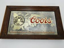 Vintage Coors Beer 1980 Brewed with Rocky Mountain Spring Water Bar Mirror