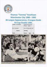 Tommy Hutchison Manchester City J Wark Ipswich Firmado Original Revista De Corte