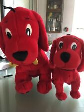 """Clifford the Big Red Dog large 17""""  soft toy plush yellow bone on collar + Small"""
