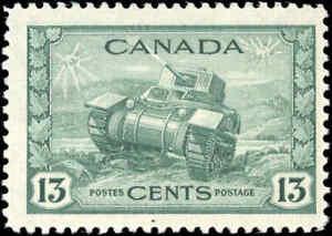 Canada Mint NH F+ 13c Scott #258 KGVI 1942 War Issue Stamp