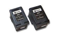 2x CARTOUCHE d'imprimante noir pour HP 337 Photosmart C4175 C4180