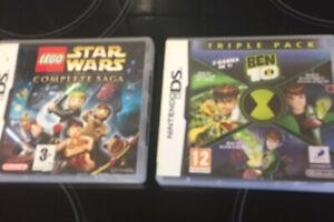 Nintendo Ds Games  Star Wars The Complete Saga & Ben 10 3 In 1 Triple Pack Bundl