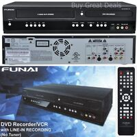 NEW FUNAI 2-WAY DUBBING COPY VHS TAPES to DVD PLAYER RECORDER VCR COMBO HDMI
