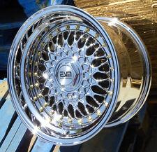 "Platinum 15x8 15"" RS Style Wheels Rims 4x100 ESM 002R BMW E30 Honda Miata Scion"