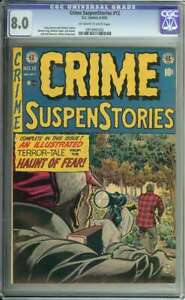 CRIME SUSPENSTORIES #12 CGC 8.0 OW/WH PAGES // PRE CODE HORROR EC COMICS 1952