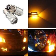 2Pcs BAY15D 1157 Car Tail Stop Brake Light 33SMD LED Bulb 5630 Yellow Bulbs 12V
