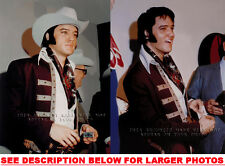 ELVIS PRESLEY IN COWBOY GEAR 1972 (2) RARE 8x10 PHOTOS