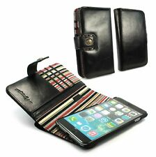 Alston Craig Personalised Leather Wallet RFID Blocking Case iPhone 6S Plus Blk