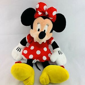 "Minnie Mouse Plush Disneyland Resorts Large 27"" Jumbo Stuffed White Polka Dot"