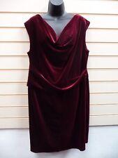 Kaleidoscope Dress Size 22 Burgundy Red Velour Party G028