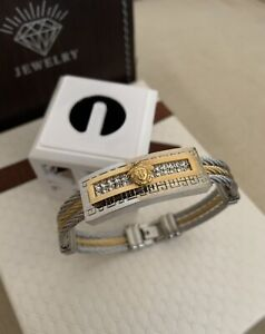 Stylish Medusa Rope Link Bracelet 18k Yellow & White Gold Filled
