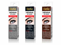 DELIA-HENNA-TRADITIONAL-FOR-EYEBROW-TINT-BROWN-BLACK-GRAPHIT-BUY-3-GET 1 FREE !
