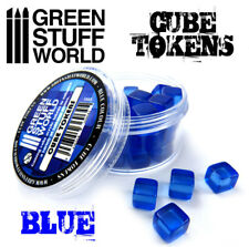 Cube Tokens - BLUE - Markers, Resources, Materials - Tabletop & Card Board Games