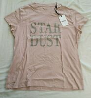 Pepe Jeans Women's Pale Pink Lacey Stardust T-Shirt Size M Medium New With Tags