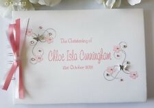 PERSONALISED CHRISTENING/ NAMING DAY /GUEST BOOK - PINK OR BLUE!