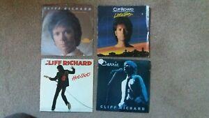 """Cliff Richard - 4 x 7"""" Singles - True Love Ways, Little Town, Hot Shot, Carrie"""