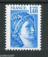 FRANCE 1978, timbre 1975a, type SABINE, VARIETE GOMME TROPICALE, MNH STAMP