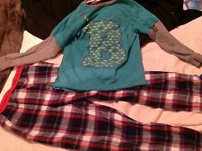 Ted baker boys pyjamas set aged 8 to 9 ..134 to 152 leg 24 inch waist used vgc