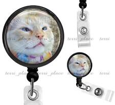 Custom Your Photo Clip On Id Badge Reel Retractable Identification Card Holder