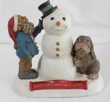 """* Tom Clark Figure """"Cairn Christmas"""" / Edition #1 / Signed By Clark And Wolfe"""