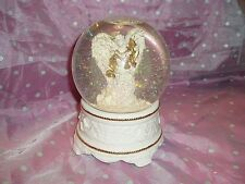 "Vtg, Nib, ""Jc Penney Musical Holiday Waterglobe"", Angel with wings, gold trim"