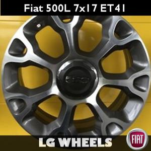 Cerchio Lega Nuovo e Originale Fiat 500L → 7x17 ET41 5x98, Antracite Diamantato