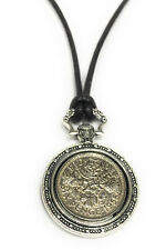 More details for 1961 60th birthday lucky sixpence rabbit fob - 60th 1961 - 22 in leather cord