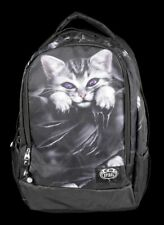 Rucksack mit Laptop Tasche - Katze Bright Eyes - Spiral Gothic Notebook Beutel