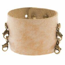 Lenny & Eva Wide Cuff Ceramic Leather Bracelet - Retired