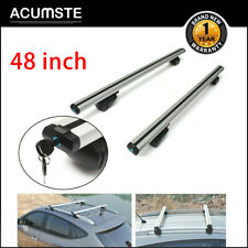 48'' Car Top Luggage Roof Racks Cross Bar Carrier Adjust Window w/lock Universal