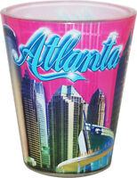 ATLANTA GEORGIA PINK PHOTO COLLAGE SHOT GLASS SHOTGLASS