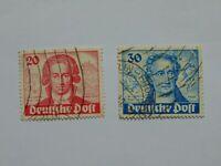 BERL Berlin (West) 1949, 200. Geburtstag Goethe, 20 und 30 Pf., Mi 62 63 (.)